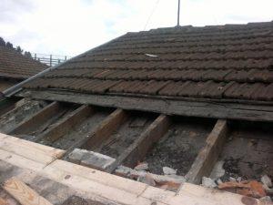 Preparando reforma de tejado